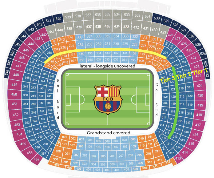 camp nou stadium seating chart